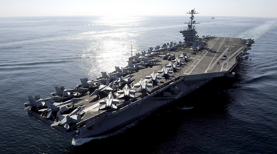 US Navy deploys small armada headed by USS Stennis to South China Sea