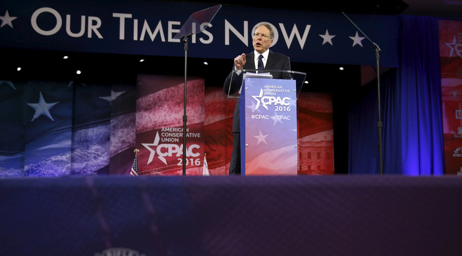 NRA president blasts gun-free zones… at gun-free conservative conference
