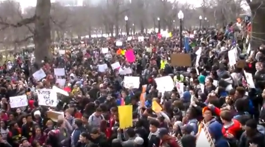 1,000+ students protest school budget cuts in Boston