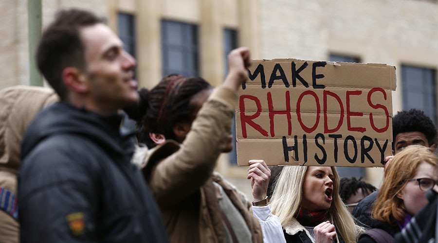 'Rhodes Must Fall' activists hold Oxford anti-colonial demo