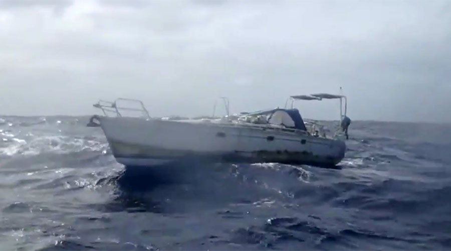Yacht team releases footage of mummified body find, blame USCG for leaving ghost boat adrift (VIDEO)