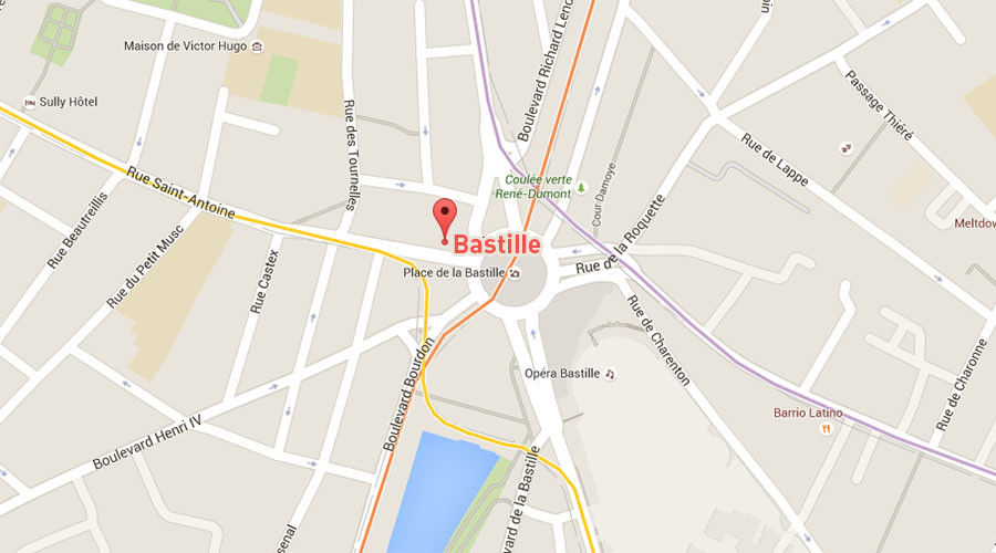 Paris: Gunfire in Bastille area, at least one wounded