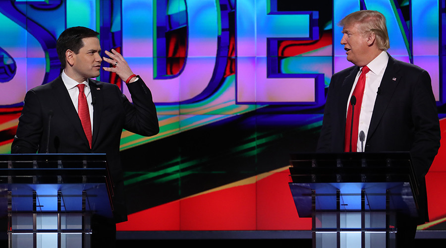 'Civil' GOP debate: Trump, Cruz, Rubio attack Washington, not each other