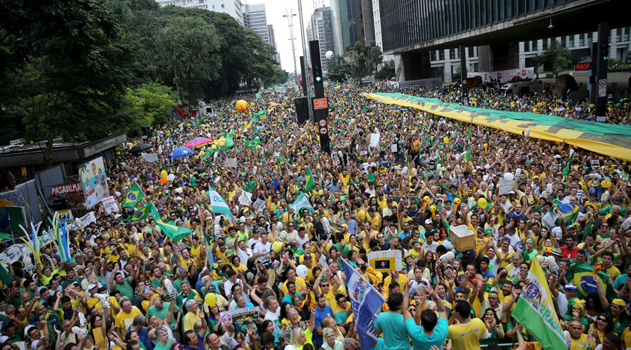 3mn people take to streets in Brazil's biggest ever anti-govt protest