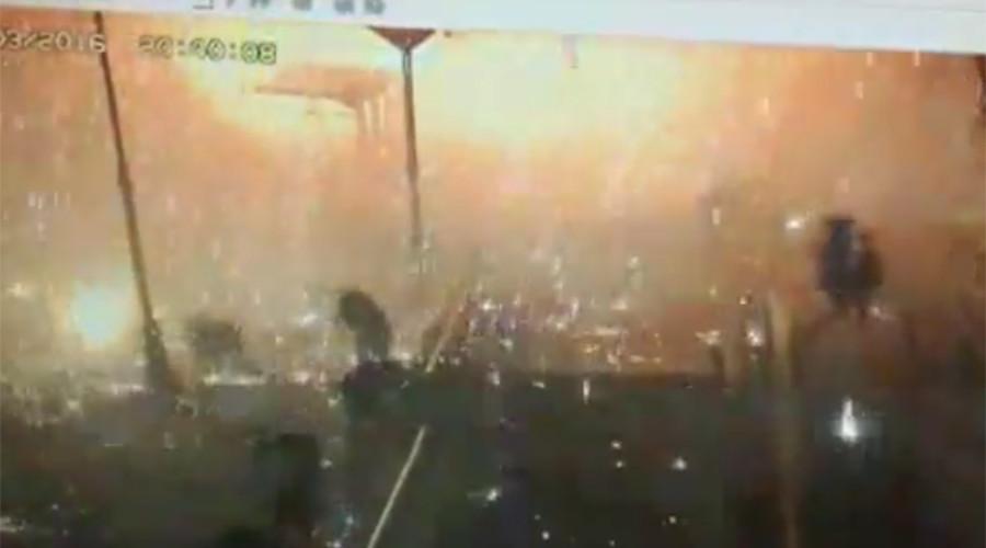 Dramatic CCTV footage of Ankara blast shows fire raining down as people flee (VIDEO)
