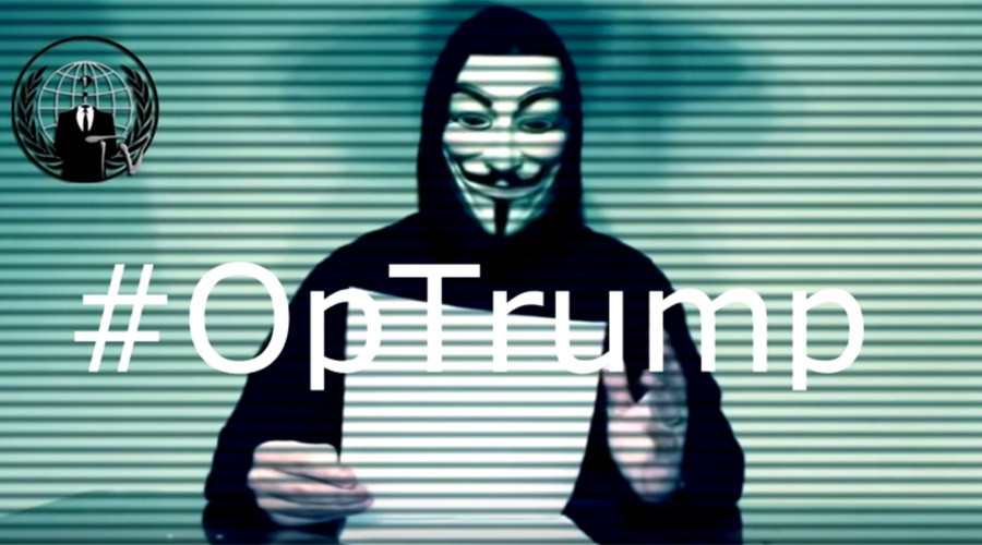 Anonymous declares 'total war' on Trump, plans April attack (VIDEO)