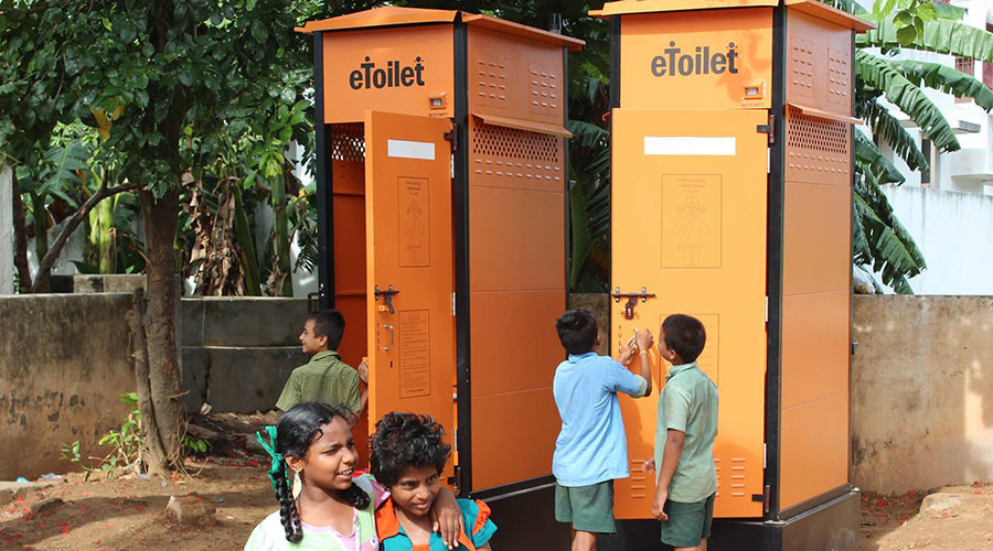 World's 1st eToilet turns poo & pee into power & water