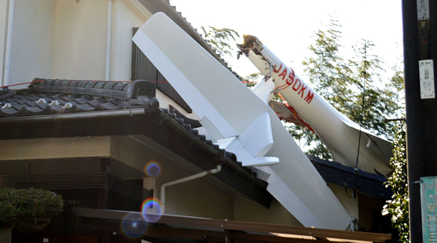 Glider crashes into houses in Chiba prefecture, Japan (PHOTOS)