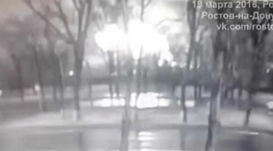 Boeing-737 crash: Moment Flydubai jet goes down caught on CCTV (VIDEO)