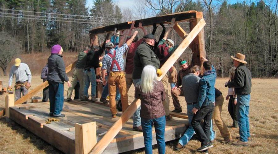 Walden pond cabin built for Thoreau-inspired fracking pipeline protest