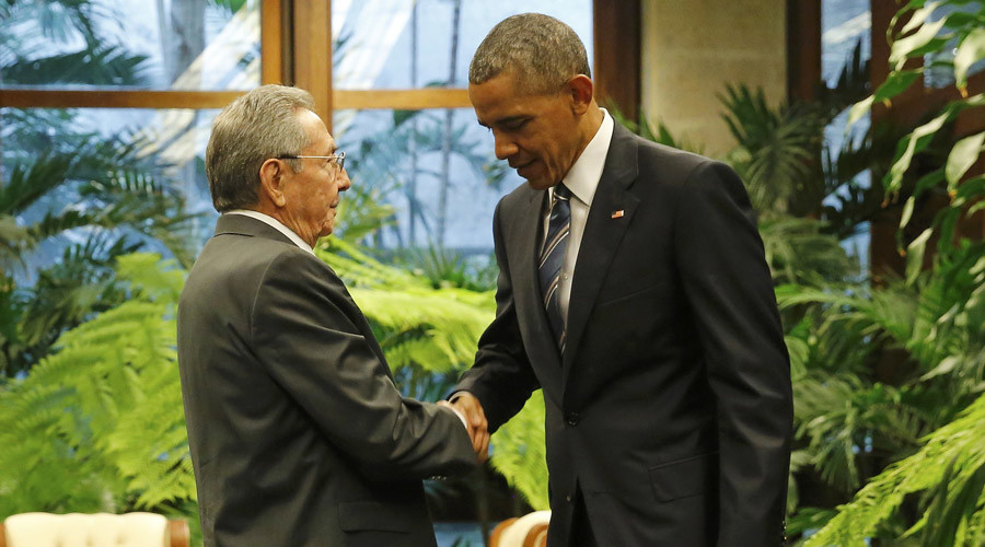 'Embargo is going to end': Obama, Raul Castro speak after historic meeting in Cuba