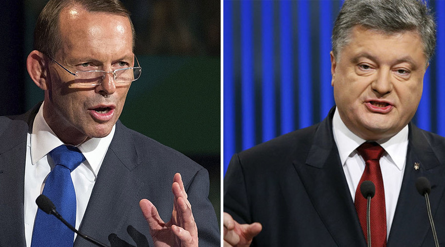Tony Abbott latest foreign politician to join Poroshenko's 'int'l advisory council'