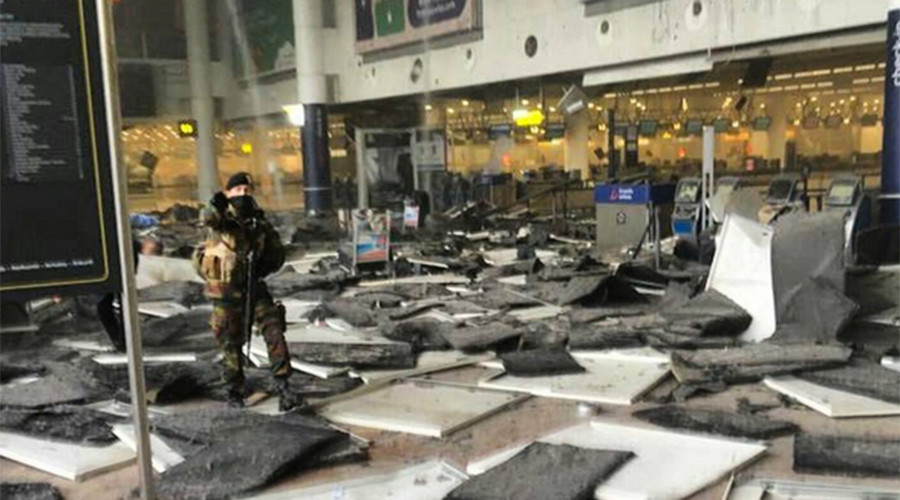 Scene of explosion at Brussels airport (VIDEO)