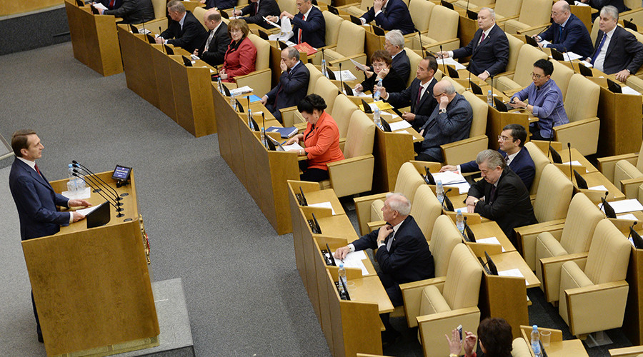 Duma chief urges global anti-terror alliance after Brussels attacks