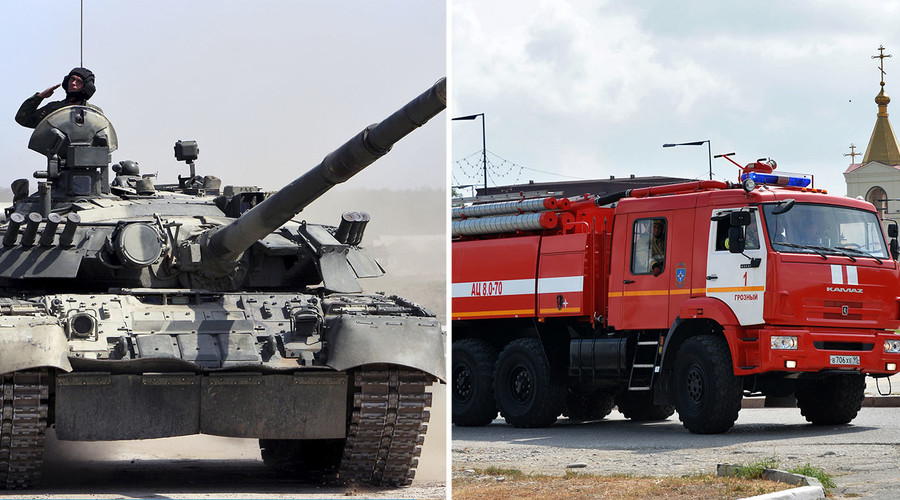 Every boy's dream: Fight fire with TANKS! Russian plant produces first armored firetrucks