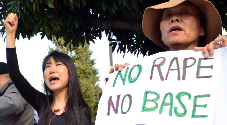 Thousands protest alleged rape by US Marine in Japan's Okinawa