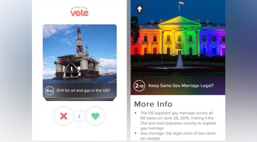 Swipe the vote: Tinder plays political matchmaker for US presidential campaign