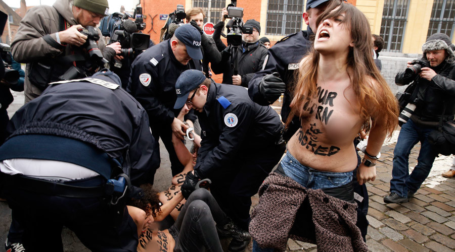 'Victory of all feminists': FEMEN wins right to topless protest in France