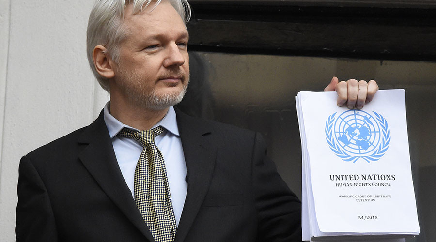 UK appeals 'incorrect' UN claim that Assange is under 'arbitrary detention'