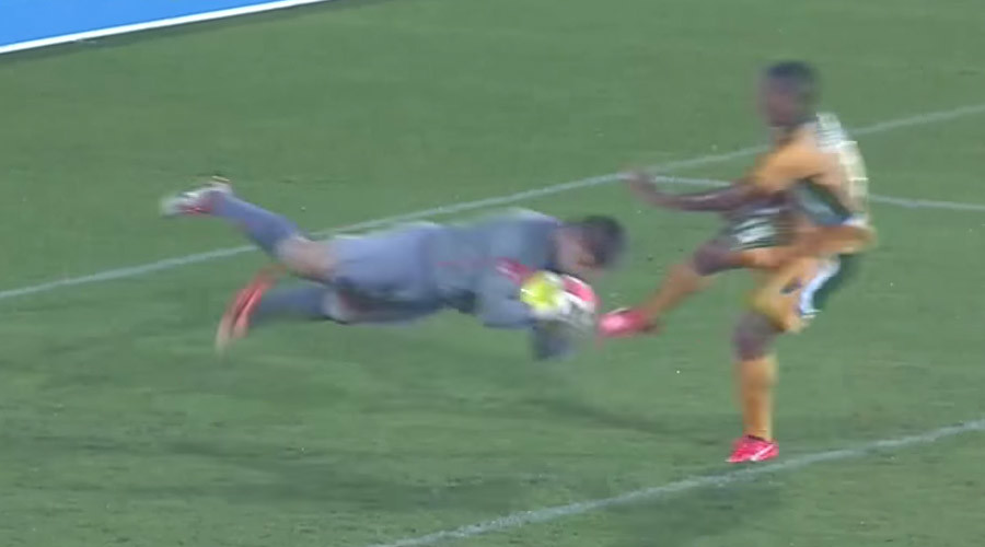 South African stopper proves goalies are crazy (VIDEO)