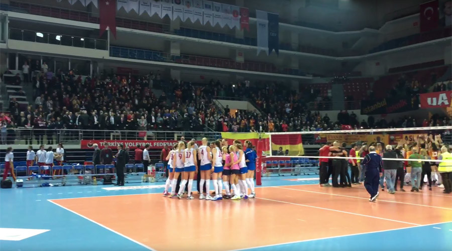 Turkish (Un)Delight: Istanbul V-ball fans spray Russian team with garbage & insults (VIDEO)
