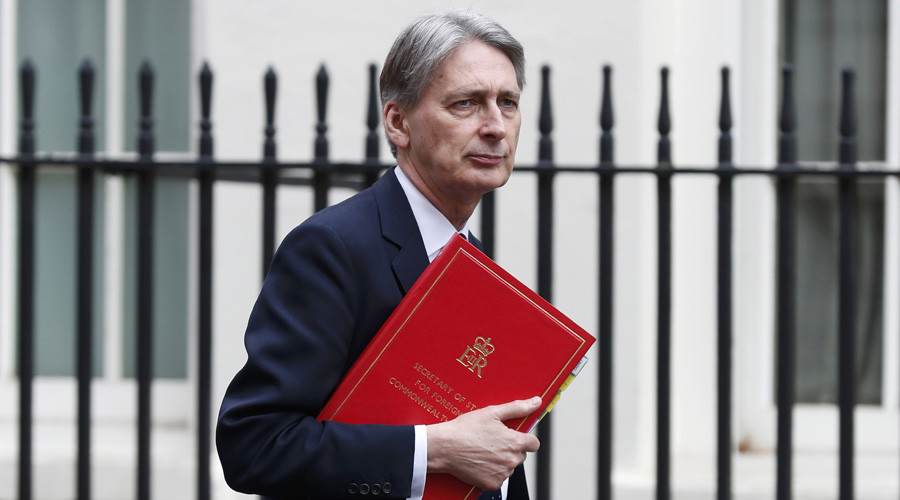 Philip Hammond has a funny way of showing his commitment to 'international norms'