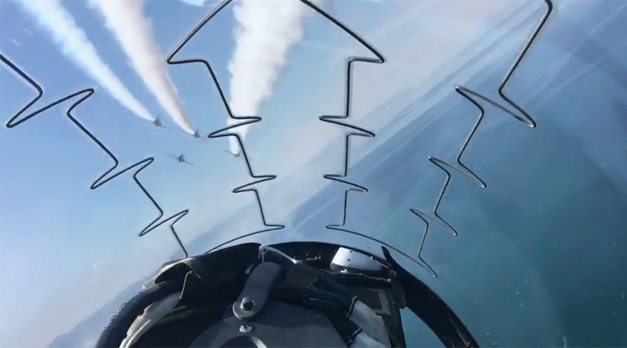 Red Arrow pilot shares dizzying cockpit view of head-spinning Twister stunt (PHOTOS, VIDEO)