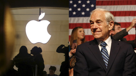 'First they come for the iPhone': Ron Paul backs Apple in FBI battle