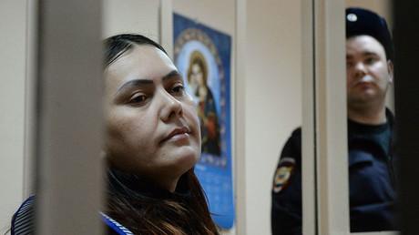 Babysitter Gyulchekhra Bobokulova, accused of killing four-year-old Nastya Maksimova, at the Presnensky Court of Moscow. ©Grigoriy Sisoev