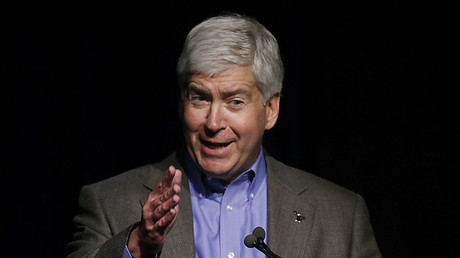 Michigan Governor Rick Snyder. © Joshua Lott / Getty Images