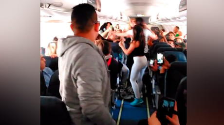 Boombox bash: 5 women brawl on Spirit Airlines flight over loud music (VIDEO)