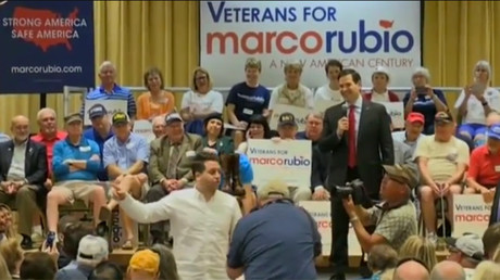 'We don't beat up our hecklers': Rubio shows Trump how to handle protesters (VIDEO)