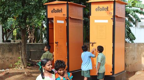 World's 1st eToilet turns poo & pee into power & water