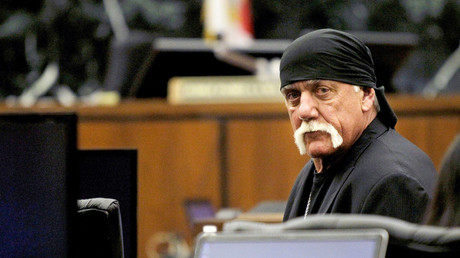 Terry Bollea, aka Hulk Hogan, sits in court during his trial against Gawker Media, in St Petersburg, Florida March 17, 2016. © Dirk Shadd
