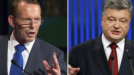 Australian Prime Minister Tony Abbott (L), Ukrainian President Petro Poroshenko. © Reuters
