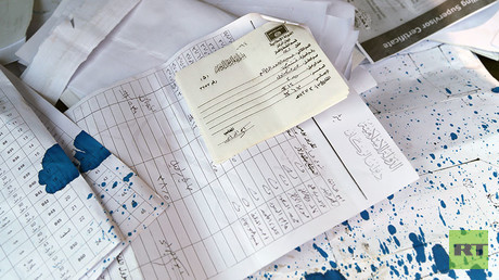 Islamic State documents, including invoices, which militants abandoned while retreating in haste.