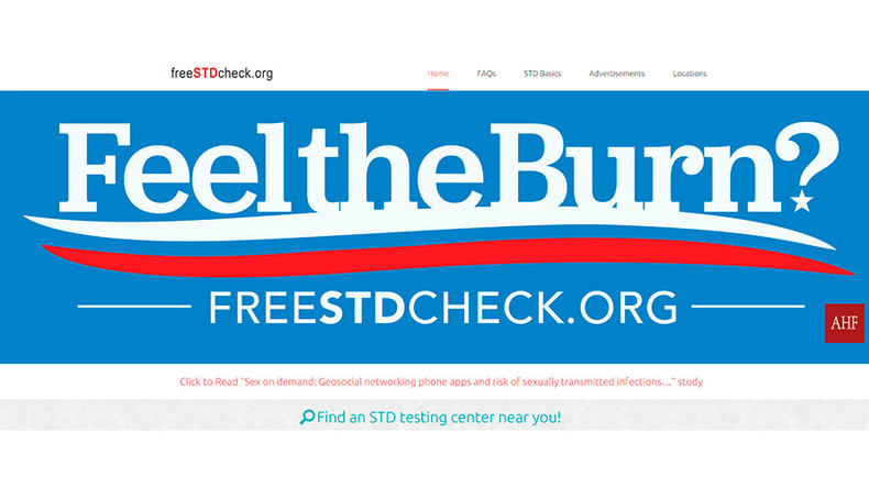 'Feel the burn?': Billboard co-opts Sanders slogan to promote STD clinic