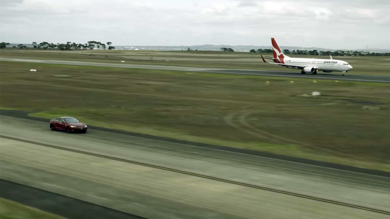 Tesla S vs. Boeing 737: Epic drag race promotes sustainability (VIDEO)