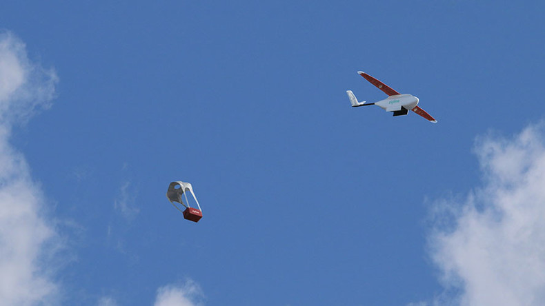 Drone on demand: Medical aid to be dropped into Rwanda after SMS order (VIDEO)