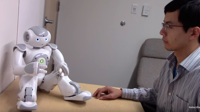 Get on up like a sex machine: Touching robots' 'private parts' turns on humans (VIDEO)
