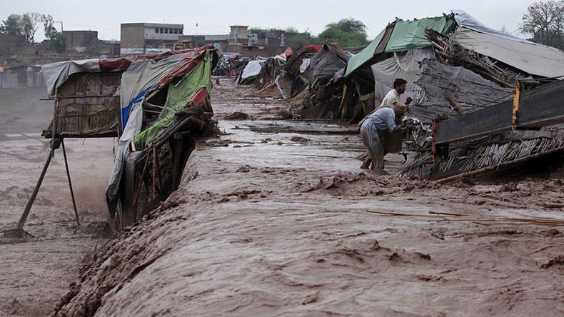 Pakistan floods kill 65, bridge collapse hampers rescue efforts (PHOTOS, VIDEO)