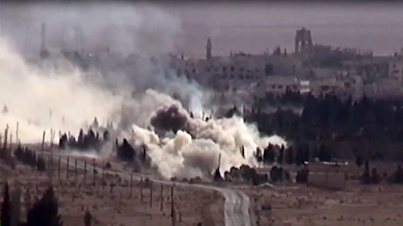 Russian Alligator helicopters destroy ISIS positions in Syria (VIDEO)