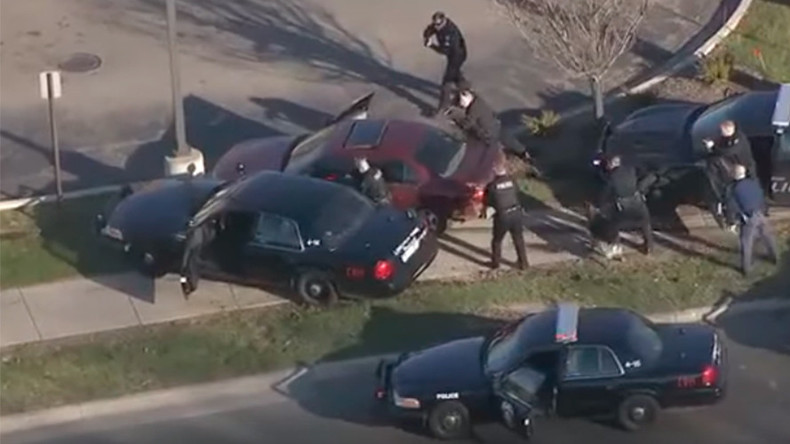 Dangerous high-speed cop car chase races across Detroit (VIDEO)