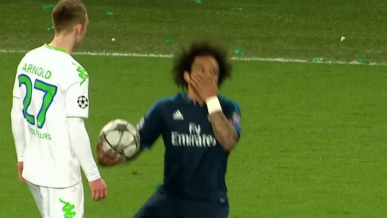 Oscar-worthy? Play-acting antics from Real's Marcelo spark online ridicule