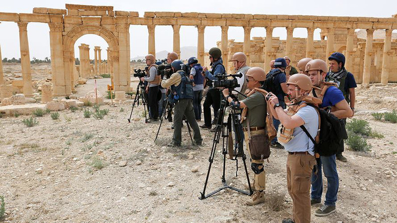 US reporters ignore first journalist tour of liberated Palmyra organized by Russian military – MoD