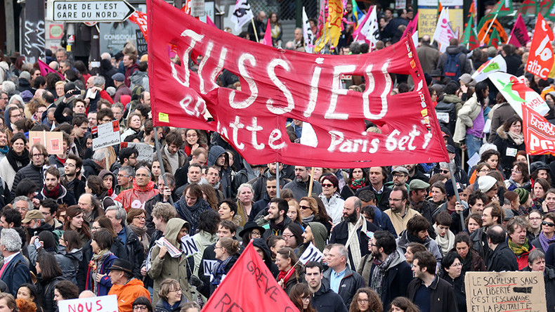 'Nuit Debout': Huge anti-labor reform protests rock France