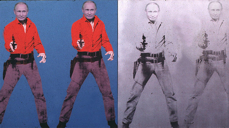 Vladimir Putin, West's bogeyman extraordinaire, sells just about anything