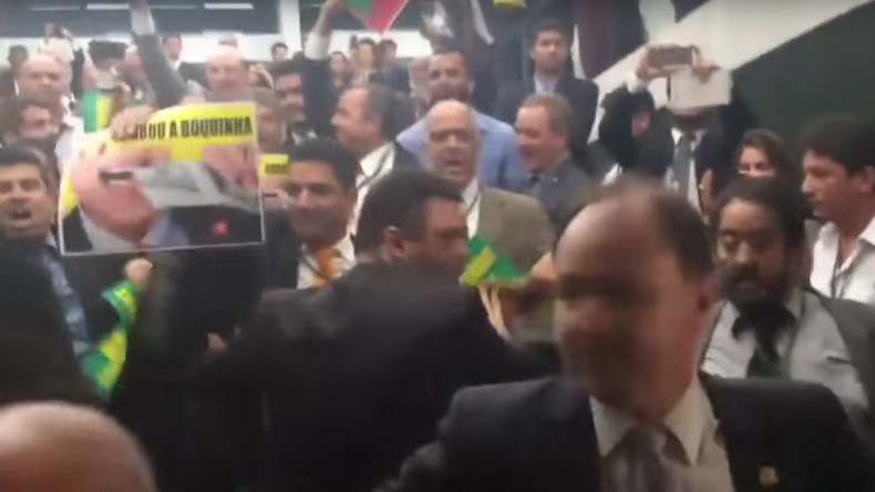 Rousseff supporters confront MPs after Brazil congressional committee 'recommends' impeachment