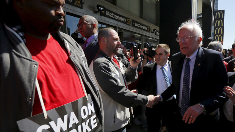 Transit union & senator back Sanders ahead of New York primary
