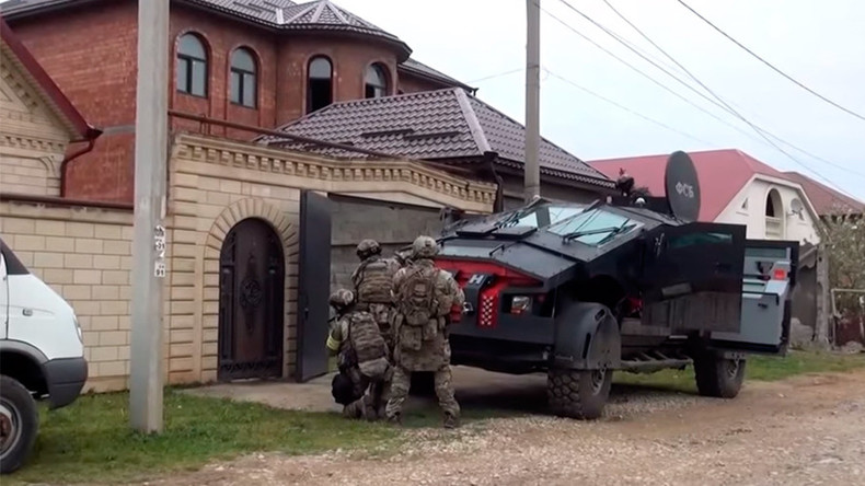 Secretive 'FSB Batmobile' & 'Tiger' assault vehicles debut in Dagestan anti-terror op (VIDEO)